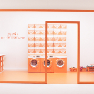 Presenting the HermèsMatic luxury laundry for your scarves