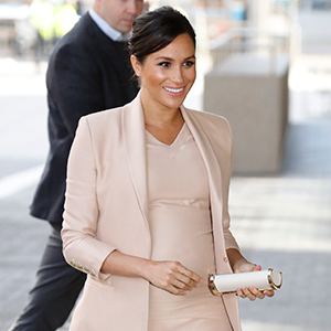 Meghan Markle steps out as Patron to the National Theatre in London for the first time