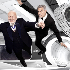 George Clooney and Buzz Aldrin for Omega Speedmaster