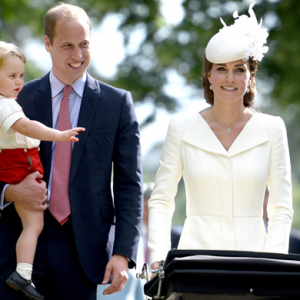 Queue the coos: The Duke and Duchess of Cambridge christen Princess Charlotte