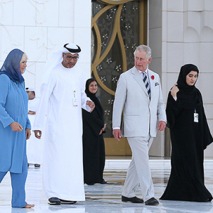 A royal visit: Prince Charles and Camilla at the Sheikh Zayed Grand Mosque