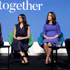 Prince Harry, Meghan Markle and the Duke and Duchess of Cambridge front first Royal Foundation Forum