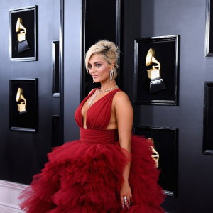 Bebe Rexha ruled the 2019 Grammys red carpet in this Bahraini designer's frock