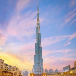 The Burj Khalifa is named as one of the most visited tourist attractions in the world