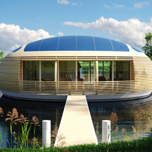 Discover the new eco-friendly luxury floating homes