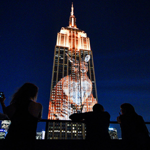 Must see: The Empire State building becomes the face of extinction