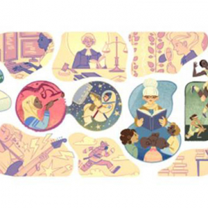 A new Google Doodle marks International Women's Day 2015