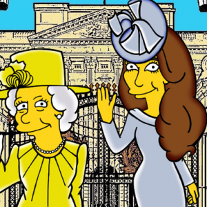 "Artist Alexsandro Palombo ""simpsonizes"" Kate Middleton and the Queen"