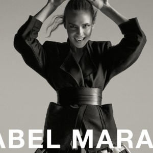 Natasha Poly poses for Isabel Marant's SS15 campaign