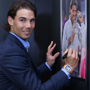Rafael Nadal visits new Richard Mille boutique in Doha