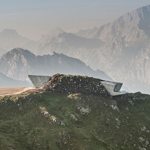 Zaha Hadid has completed a museum for a renowned climber within a mountain's summit
