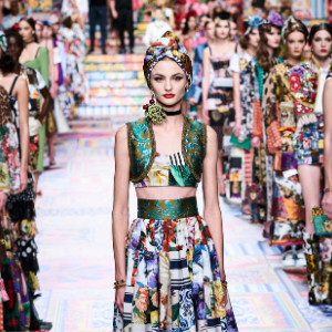 Prints galore: Dolce & Gabbana and Versace's Spring/Summer '21 collection