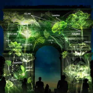 Artist projects virtual forests growing onto Paris icons