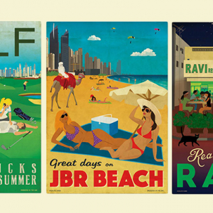 Artist Claire Napper debuts humorous Dubai-inspired posters