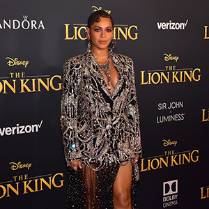 Beyoncé is looking fierce in Alexander McQueen at The Lion King premiere