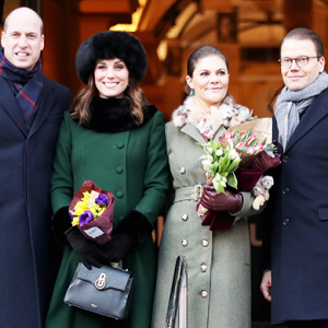 Prince William and Kate Middleton begin their royal tour of Sweden and Norway