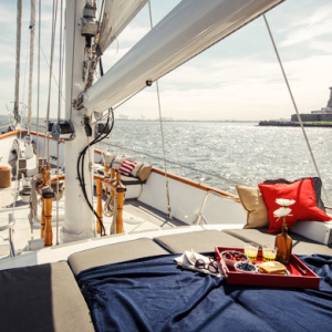 Airbnb offers a night on a yacht next to Lady Liberty in New York
