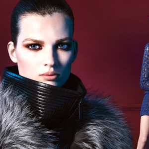 Bette Franke poses for J.Mendel's new AW14 campaign