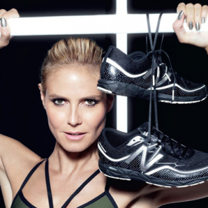 Heidi Klum unveils her athletic collection for New Balance