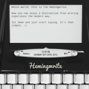 Introducing the Wi-Fi enabled 'Hemingwrite' typewriter