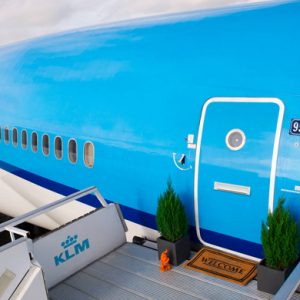 Airbnb offer a nights stay aboard a KLM plane