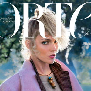 Anja Rubik covers 'Porter' magazine's latest issue