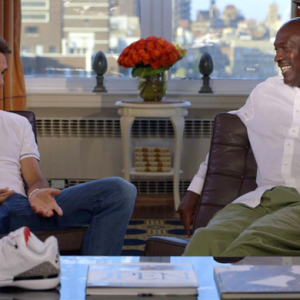 Roger Federer and Michael Jordan talk shoe design
