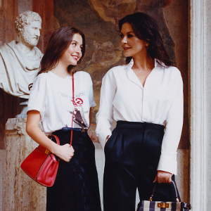 Exclusive: Catherine Zeta-Jones and her daughter discover Rome with Fendi's Peekaboo bags