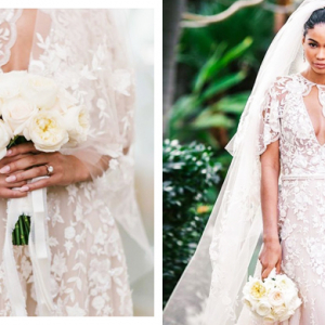 Chanel Iman just got married in a gown made by a Middle Eastern designer