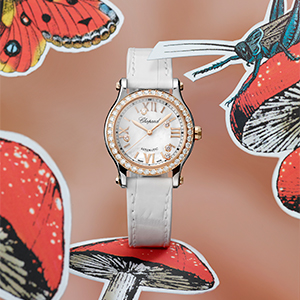 One of Chopard's most iconic models is transformed into four new elegant variations