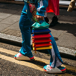 Colour reigns supreme on the streets of London for Men's Fashion Week