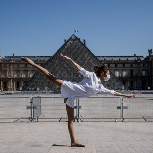 Yara Al-Hasbani dances her way around an empty Paris
