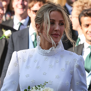 Here's your first look at Ellie Goulding's custom Chloé wedding dress