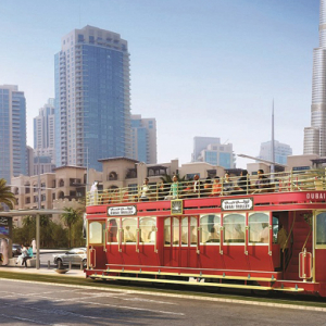 A new electric-powered transit service is announced for Downtown Dubai