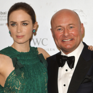 Emily Blunt presents the IWC Filmmaker Award to Abdullah Boushahri