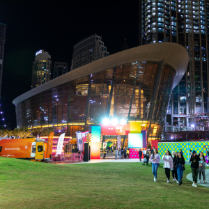 Enjoy outdoor entertainment and an al fresco marketplace this DSF