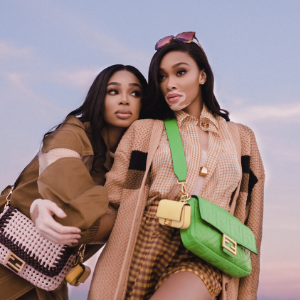 Winnie Harlow stars in the new FENDI #BaguetteFriendsForever episode with real-life BFF Shannon Hamilton