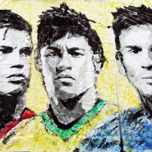 Chinese artist Red Hong Yi creates World Cup artwork using a football
