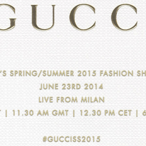 Buro 24/7 Exclusive: Watch the Gucci SS15 Men's show live