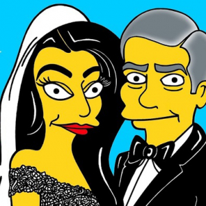 George Clooney and Amal Alamuddin's wedding gets a Simpson's makeover
