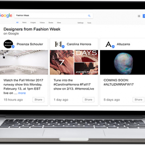 Tech talk: Google granted Fashion Week access
