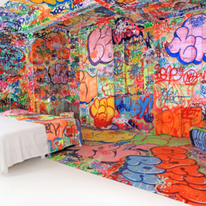 Graffiti artist gives a French hotel a unique makeover