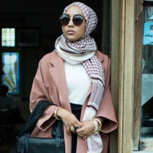 Maria Hidrissi stars as the first model styled with a hijab in a high-street campaign – for H&M