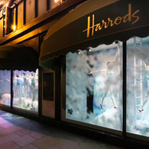 Harrods' beautiful Shoe Heaven window displays
