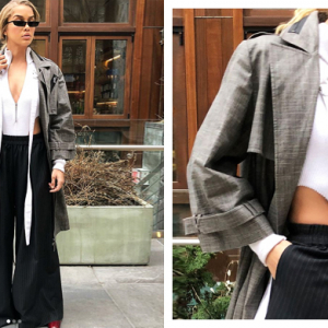 Jasmine Sanders just stepped out wearing Lama Jouni at NYFW