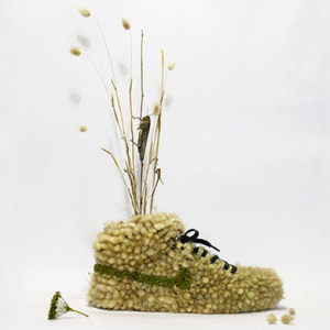 Christophe Guinet's Nike-inspired 'Just Grow It' flower sculptures