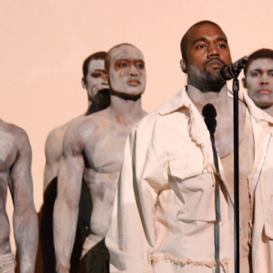 Kanye West performs to some of the world's most influential people at the Time 100 party