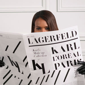 There's a new makeup line by Karl Lagerfeld in the works