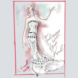 How Karl Lagerfeld and Julianne Moore created the bespoke Chanel Oscars 2015 gown