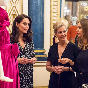 Kate Middleton celebrated a new eco-friendly fashion initiative at Buckingham Palace